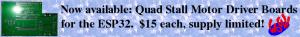 ESP32 Quad Stall Motor Boards