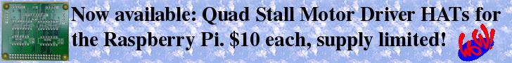 Quad Stall Motor Driver HATs